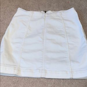 FREE PEOPLE WHITE DENIM SKIRT